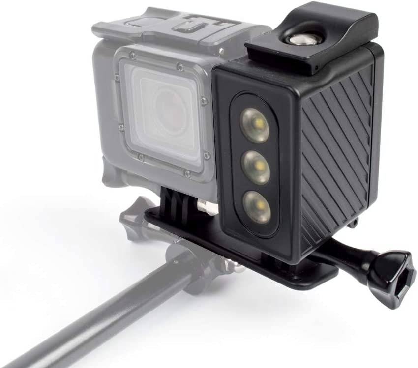 Durable Color : Black Xiaoyi and Other Action Cameras Black Waterproof LED Video Light with Adapter Mount /& Screw for GoPro HERO7 //6//5 //5 Session //4 Session //4//3+ //3//2 //1
