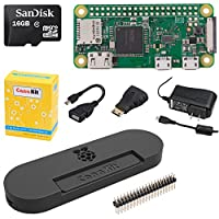 CanaKit Raspberry Pi Zero W (Wireless) Complete Starter Kit with Premium Black Case