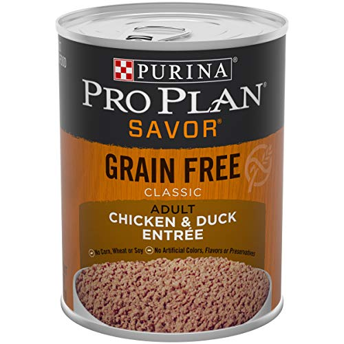 Purina Pro Plan Grain Free, High Protein Wet Dog Food; SAVOR Classic Chicken & Duck Entree - 13 oz. Can