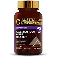 Australian NaturalCare - Sleep Support - Valerian 1000 Herbal Relaxer Vitamin Tablets for the Relief of Nervous Tension and Sleeplessness (60 Film Coated Tablets)