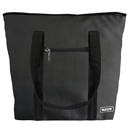 Vaultz Locking Cooler Bag, 7.5 x 15 x 20.5 Inches, Black (VZ03507)