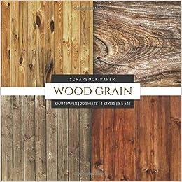Wood Grain Scrapbook Paper Wood Background 8x8 Decorative