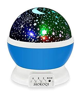 CHIGANT Lámpara Proyector Estrellas y Luna 360 Grados De Rotación ...