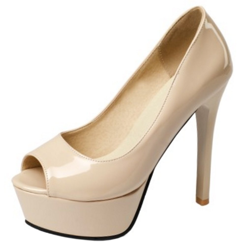 Zanpa Damen Moda Plateau Absatz Schuhe36.5 EU (sole length 23.5 CM)|Ivory