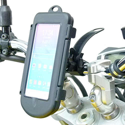 BuyBits Motorcycle Locking Strap Mount & Waterproof Cases for Galaxy Note 1 2 3 4