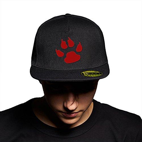 Predator Sign Red Black Black Cap Original Gorra Snapback Unisex, Ajustable, con Visera Plana y Logotipo Urbano Bordado.