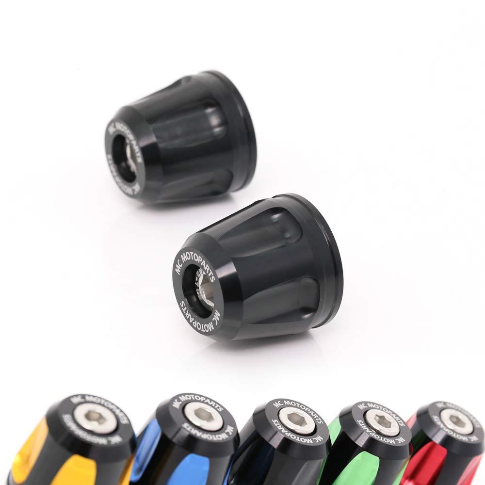 Black KAIXA CNC Bar Ends Sliders For Kawasaki Z650 Z900 Vulcan 650 S Ninja 650R Z1000 Z750 ER6F ER6N 18 19