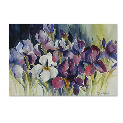 White Iris Artwork by Rita Auerbach, - floral wall decorations
