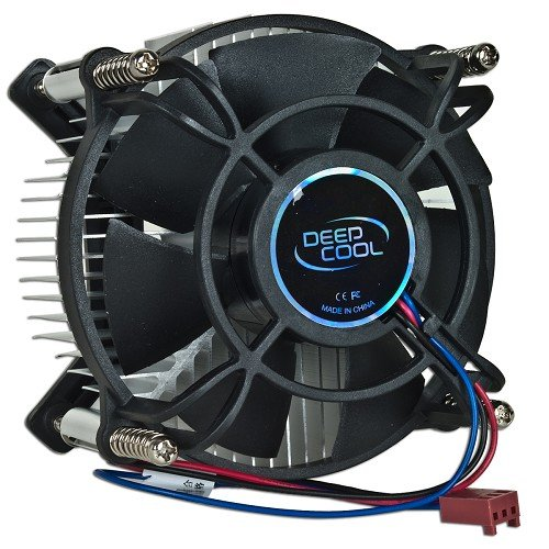(Logisys IC106 Deepcool ALPHA 6 Intel Celeron Dual Core, Pentium 4/D, Core 2 Duo/Quad Socket 775 3-Pin Connector CPU Cooler With Aluminum Heatsink & 3.62-Inch Fan For Desktop PC Computer)