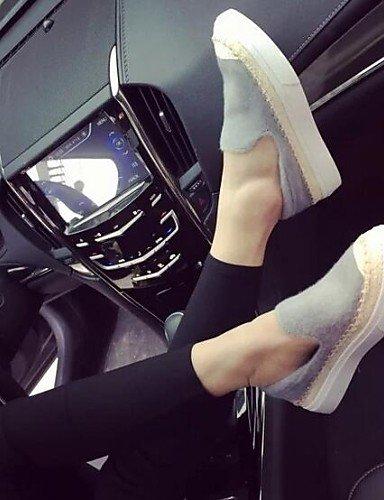 comfort Uk4 Zq mocasines Gray negro exterior tacón Plano Gyht Mujer Cn36 Deporte De Gray Zapatos Cn39 Uk6 us6 Eu36 Cerrada Gris Punta Eu39 semicuero us8 rYqwrg