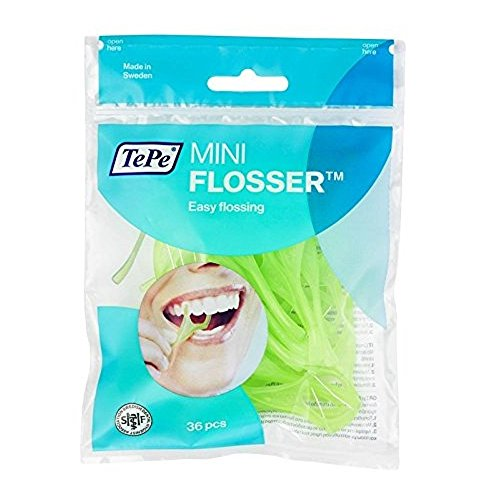 TePe MINI FLOSSERS 36 PACK - Recommended by Dentists for Best Oral Health, Healthy Mouth & Gums Between Dental Visits, Prevent Bad Breath and Periodontal Disease
