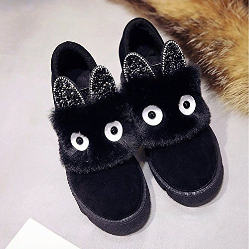 Heel Booties Winter Snow Shoes Casual Rhinestone HSXZ Gray Green Cashmere Boots Black for Flat Toe Boots Women's Dark Grey Round Boots ZHZNVX Ankle IzxA7fq