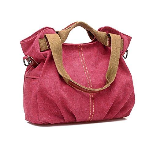 Body Fashion Shoulder Canvas Bag Women's Handbag LQT Casual Bag Red Tote Cross 5Zw8qwt