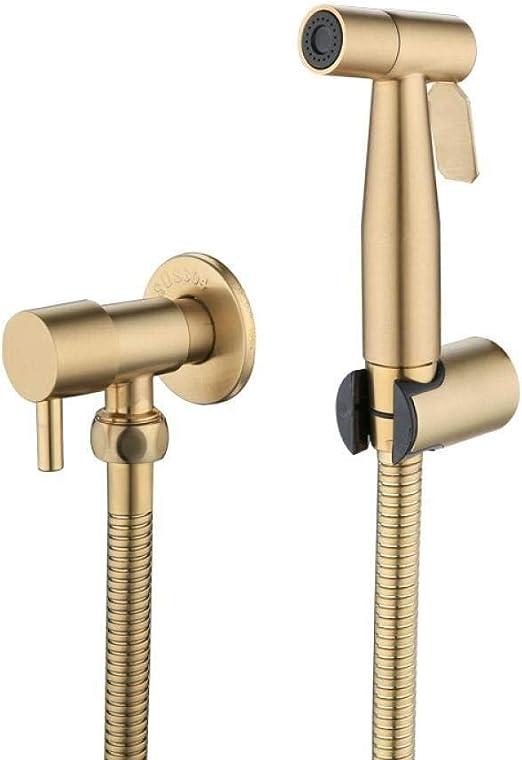 Fjz Fjz Toilet Hand Held Bidet Sprayer Antique Brushed Gold Faucet Kit Handheld Bidet Sprayer Showerheads Amazon Ca Home Kitchen