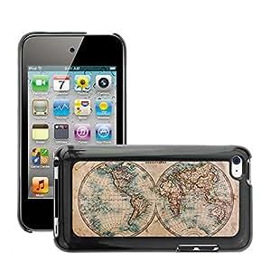 Print Motif Coque de protection Case Cover // V00002412 Mapa de Viejo Mundo en hemisferios // Apple ipod Touch 4 4G 4th