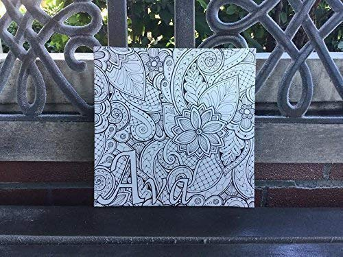 Custom Coloring CANVAS, Adult Coloring, Color Your Own Wall Canvas, PERSONALIZE With a Name or Word, Best Gift Daughter, Niece, Grandma, Fun and Therapeutic, Comes in 3 Sizes, Ready To Hang