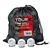 Assorted Bridgestone B Grade Recycled Golf Balls (Value Pack of 48)