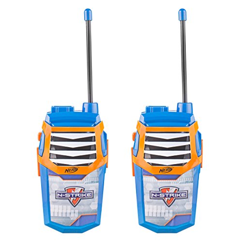 Nerf WT3-01056 Nerf Night Action Walkie Talkie, Nerf graphics, Large speaker, built-in flashlight, Wide range communication capability, transmission, Stylish appearance, Pack of 2, Blue