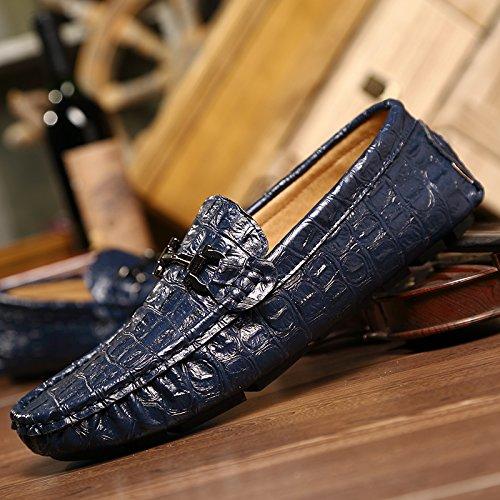 Classico blu da alta Scarpe le Casual che scuro auto qualità di Uomo scarpe guida xSggC8