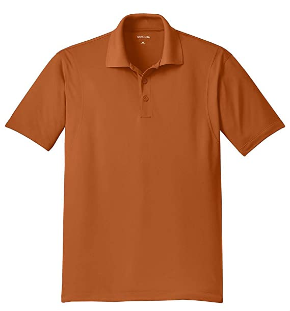 Joe's USA Mens Moisture Wicking Micropique Golf Polos in Regular, Big & Tall
