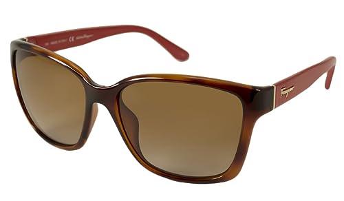 Amazon.com: Salvatore Ferragamo anteojos de sol Para Mujer ...
