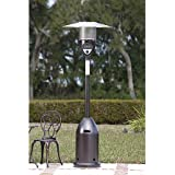 Modern Durable Bronze Deluxe Patio Heater | Contemporary Home Outdoor Space Heater by the Porch, Pool, Gazebo or Garden