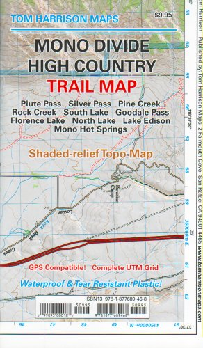 Mono Divide High Country (Tom Harrison Maps)