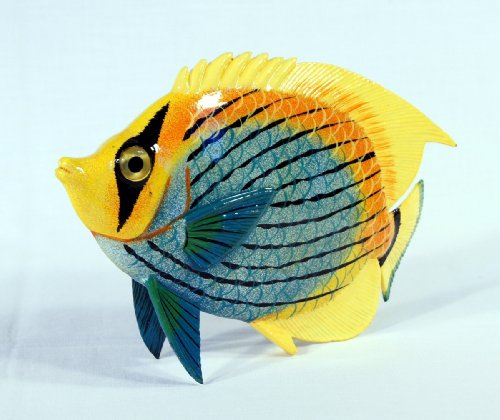 Handpainted Tropical Fish Statue Replica 15