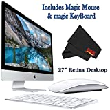 6Ave Apple iMac MK482LL/A 27-Inch Retina 5K Display Desktop 3.3GHz 8GB 2TB Fusion Drive + Mac Essentials Lifetime Online Support + Magic Keyboard and Magic Mouse