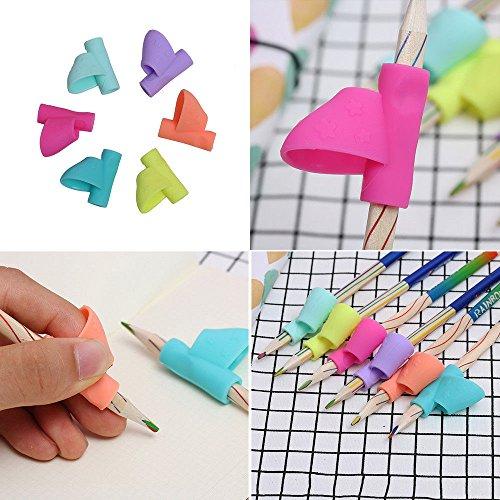 Phantomx 3PCS/Set Children Pencil Holder Pen Writing Aid Grip Posture Correction Tools