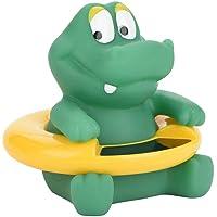 Seguridad Termómetro de ducha para bebé con sensor Chip Pantalla de temperatura flotante LED Juguete de baño estilo animal lindo (cocodrilo verde)