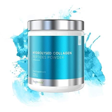 WeightWorld Peptídos de Colágeno Hidrolizado - Colágeno En Polvo Hidrolizado Puro de Origen Natural y Animal - Mejora El Rendimiento Muscular y ...