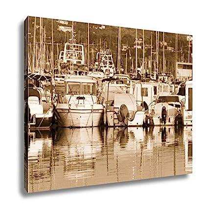 Amazon.com: Ashley Canvas Boats Moored In Harbour Near Denia ...