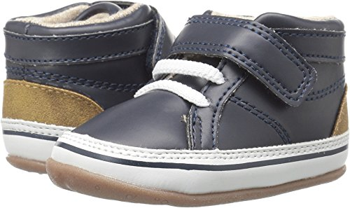 (Carter's Every Step Stage 2 Girl's and Boy's Standing Shoe, Eli, Navy/Khaki, 4 M US Toddler)