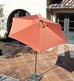 Formosa Covers 7.5 Foot Aluminum Market Umbrella, Crank & Tilt, Strong Fiberglass Ribs, UV Treated, Perfect for Patio, Small Bistro, Deck – Color in Terra