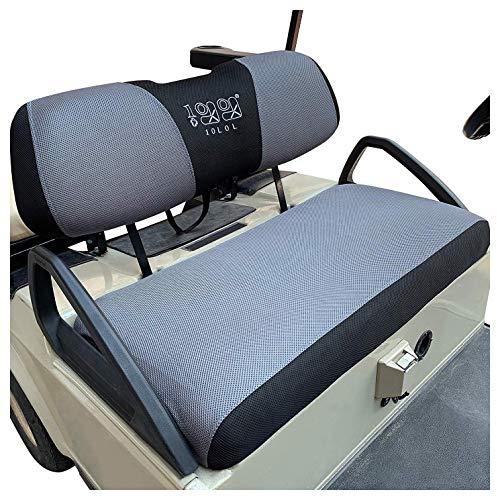 10L0L Golf Cart Bench Seat Cover Set, Washable Polyester Mesh Cloth Fits Club Car DS & Precedent, EZGO TXT & RXV, Yamaha Electric Golf Carts