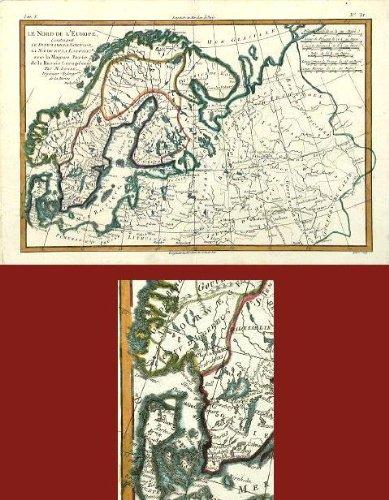 Amazon antique map norway sweden laponia bonne 1780 etchings antique map norway sweden laponia bonne 1780 gumiabroncs Images
