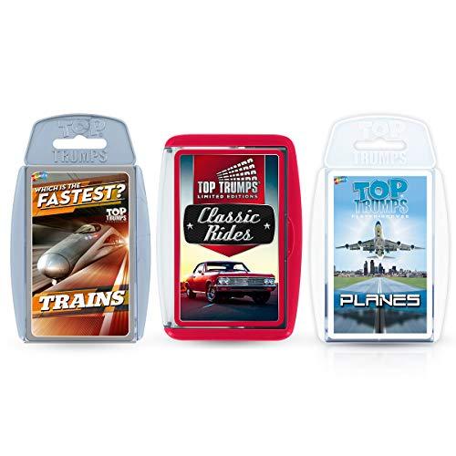 Top Trumps Planes, Trains, Automobiles Card Game Bundle