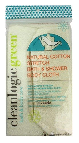 Clean Logic Natural Cotton Stretch Bath Shower Cloth (2 P...