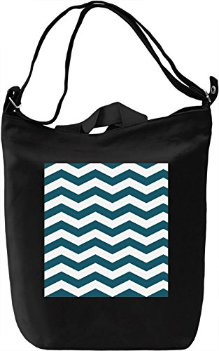 Waves Print Borsa Giornaliera Canvas Canvas Day Bag| 100% Premium Cotton Canvas| DTG Printing|