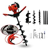 52cc 2HP Petrol Powered Earth Auger Post Hole Borer Ground Drill (52 cc)