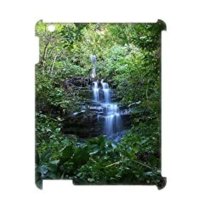 3D IPad 2,3,4 Case Tropical Waterfall 3 Cute for Girls, Case for Ipad 2 for Kids Vinceryshop, [White]