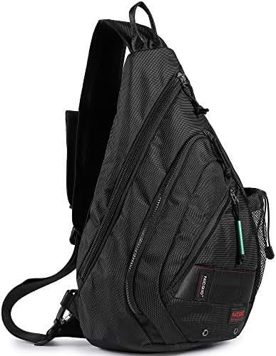Sling Bag Backpack, Chest Crossbody Bags Sling Shoulder Backpacks One Strap Multipurpose Daypack Laptops Travel Outdoors Backpack for Men Women Teens