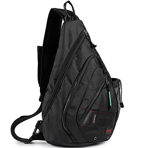 Sling Bag Backpack, Chest Crossbody Bags Sling Shoulder Backpacks One Strap Multipurpose Daypack Laptops Travel Outdoors Backpack for Men Women Teens