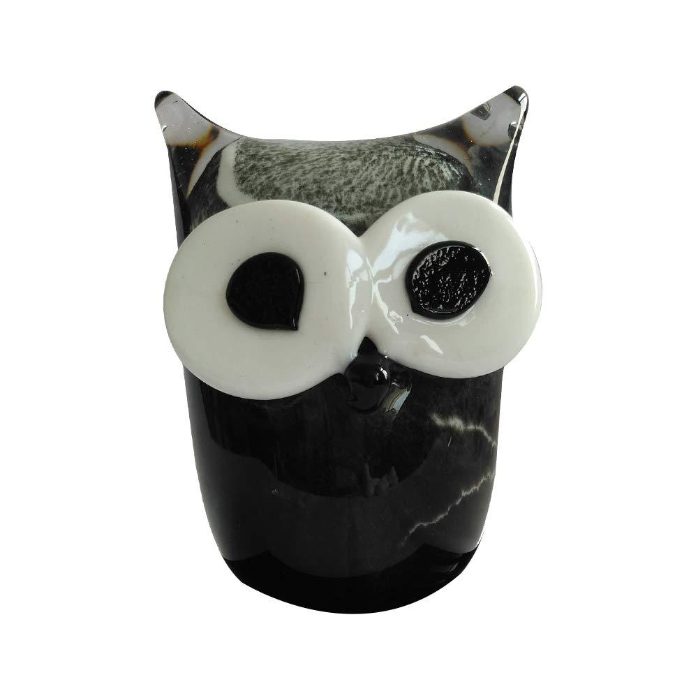 Kinetic Glass Beautiful Art Glass Black Owl Paperweights 89379