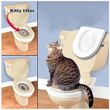 Arenero portátil para Mascotas, Sistema de Entrenamiento de Asientos de Inodoro para Gatos: Amazon.es: Productos para mascotas