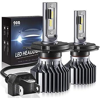 H4 9003 HB2 Led Headlight Bulbs, SEALIGHT Upgraded Super Bright 24x CSP Led Chips Headlight Kit -Hi/Lo Beam 6500LM 6000K White (Pack of 2)