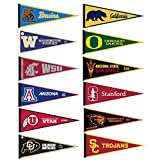 Pac 12 Conference College Pennant Set