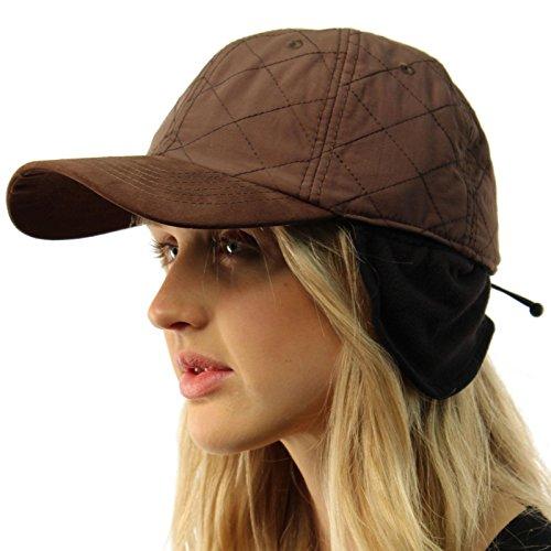 everyday-ear-cover-ear-flaps-warmer-visor-baseball-adjustable-ball-cap-hat-brown