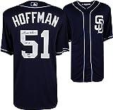 Trevor Hoffman San Diego Padres Autographed Majestic Blue Replica Jersey with HOF 18 Inscription - Fanatics Authentic Certified